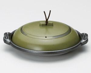 庵陶板うぐいす18浅皿(アルミ)M10−570
