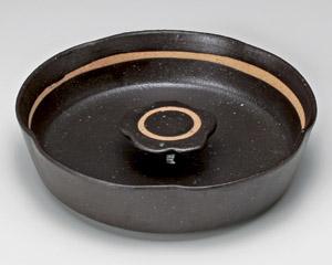 黒オリベ花型6寸灰皿
