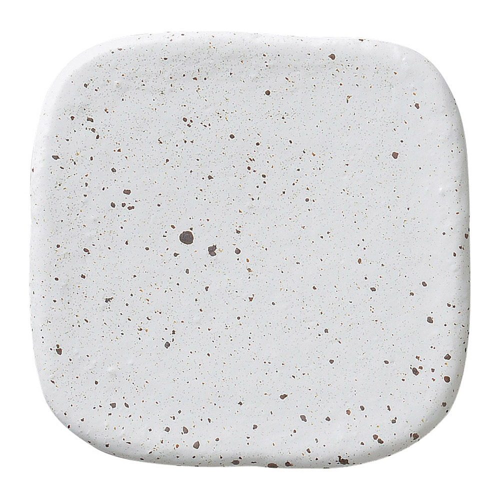 白斑点 パレット19cm正角皿