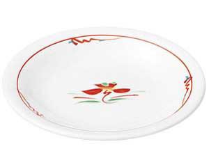 赤絵花紋 5.5丸皿