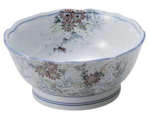 古染錦春日野 桔梗型刺身鉢