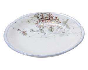 古染錦春日野 花型3.0皿