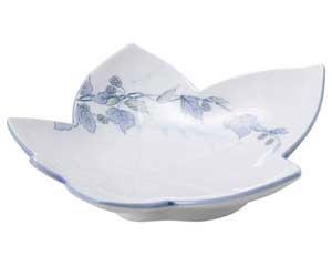 清彩つた もみじ型和皿