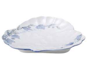 清彩つた 松型和皿