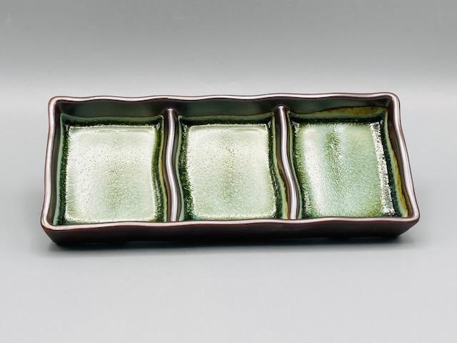 青彩三品皿(在庫50限り) サムネイル2