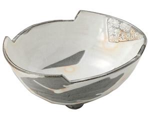 三島手 楕円鉢