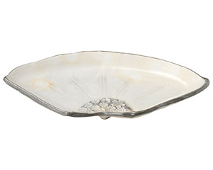 三島手 扇皿