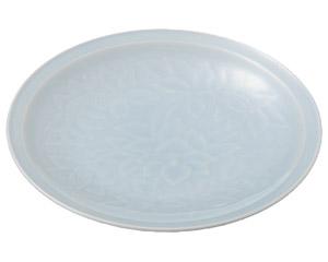 青白磁唐草 8.0皿