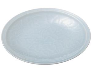 青白磁唐草 11.0皿