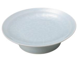 青白磁唐草 6.0大高浜皿