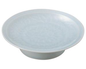 青白磁唐草 7.0大高浜皿