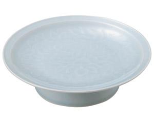 青白磁唐草 8.0大高浜皿