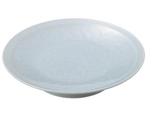 青白磁唐草 9.0大高浜皿