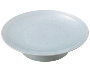 青白磁唐草 10.0大高浜皿