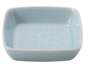 青白磁唐草 6.0角鉢