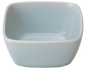 青白磁唐草 4.5角鉢