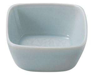 青白磁唐草 4.0角鉢