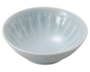 青白磁唐草 雪割刺身鉢