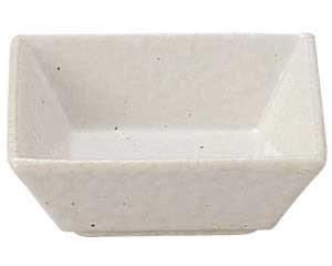 粉引石目 正角小鉢