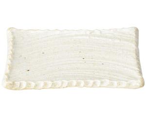 窯変志野 17.5cm長角皿