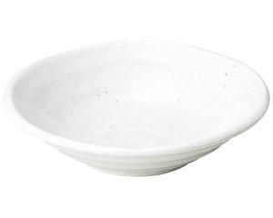 ゆらり 粉引き4.5寸深皿