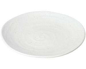 ゆらり 粉引き9寸皿