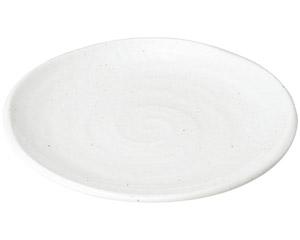 ゆらり 粉引き8寸皿