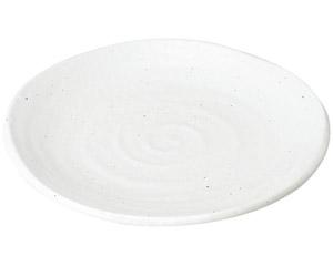ゆらり 粉引き7寸皿