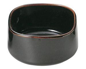 柚子天目 角4.0小鉢