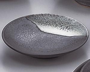 ブルー鉄釉丸3.0皿 画像1