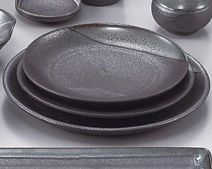 ブルー鉄釉丸9.0皿