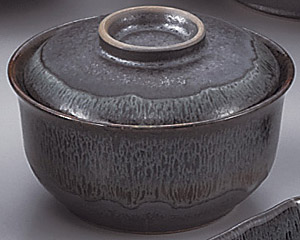 ブルー鉄釉円菓子碗 画像1