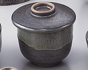 ブルー鉄釉むし碗