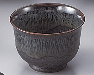 ブルー鉄釉反煎茶