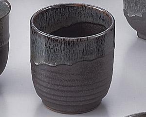 ブルー鉄釉寿司湯のみ