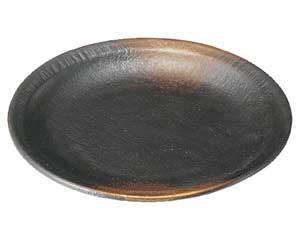 焼締 4.5丸皿(リム付)