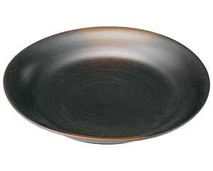 焼締 8.0丸皿(リム付)