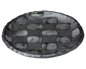 黒市松 4.0丸皿