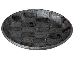 黒市松 6.0丸皿