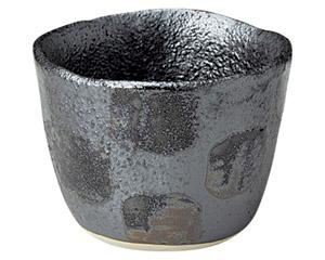 黒市松 陶碗(小)