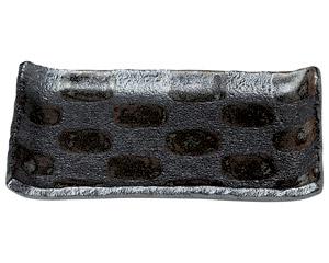 黒市松 7.0長角皿