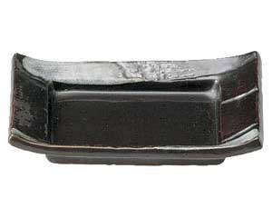 鉄結晶 長角四方小皿