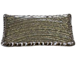 黒織部 17.5cm角皿