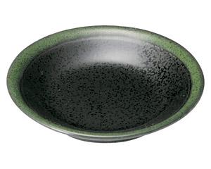 グリーン志野 リム付3.5皿