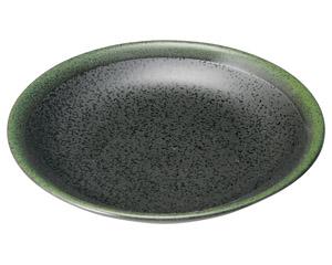 グリーン志野 丸5.0皿