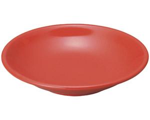 豊明(赤釉) 8.0深皿