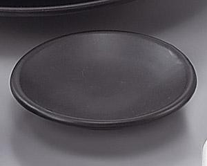 W/B黒マット丸薬味皿