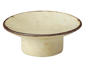 くつろぎ 粉引 8cmマカロン皿
