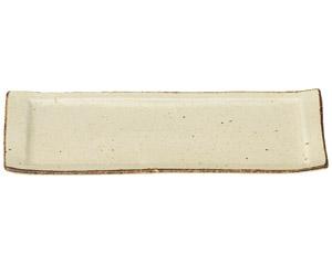 くつろぎ 粉引 31cmロールケーキ皿