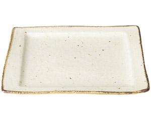 くつろぎ 粉引角皿